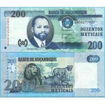 Мозамбик 200 метикал 2011 год.