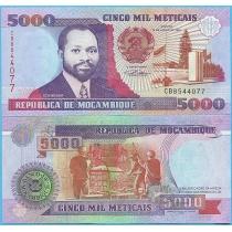 Мозамбик 5000 метикал 1991 год.