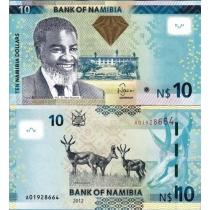 Намибия 10 долларов 2012 г.