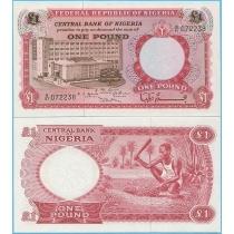 Нигерия 1 фунт 1967 год.