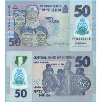 Нигерия 50 найра 2016 год.