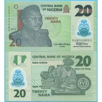 Нигерия 20 найра 2018 год.