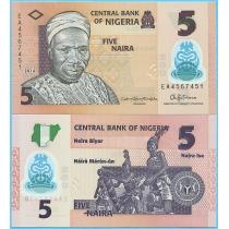 Нигерия 5 найра 2016 год.