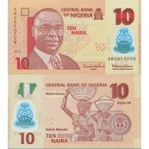Нигерия 10 найра 2013 год.