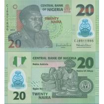 Нигерия 20 найра 2013 год.