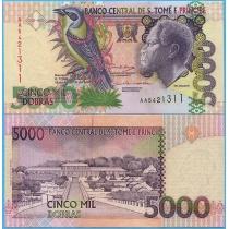 Сан Томе и Принсипи 5000 добра 2004 год.