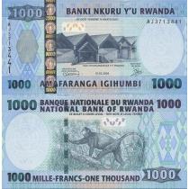 Руанда 1000 франков 2008 год.