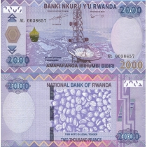 Руанда 2000 франков 2014 г.