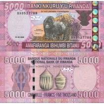Руанда 5000 франков 2009 г.