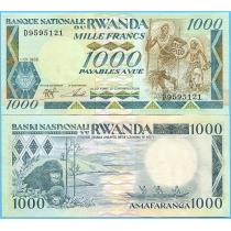 Руанда 1000 франков 1988 год.