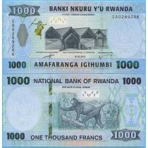Руанда 1000 франков 2019 год.