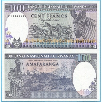Руанда 100 франков 1989 год.