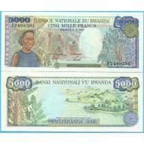 Руанда 5000 франков 1988 год.