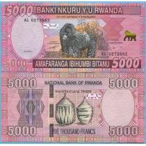 Руанда 5000 франков 2014 год.