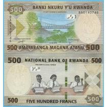 Руанда 500 франков 2019 год.