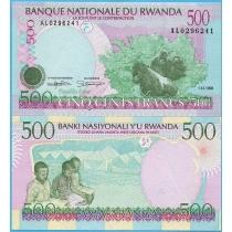Руанда 500 франков 1998 год.