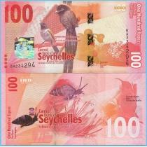 Сейшельские острова 100 рупий 2016 год.