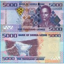 Сьерра-Леоне 5000 леоне 2015 год.