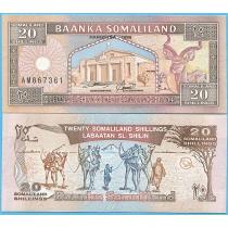 Сомалиленд 20 шиллингов 1996 год.