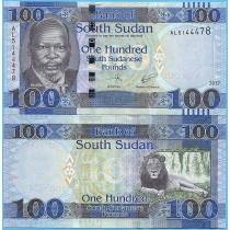 Южный Судан 100 фунтов 2017 год.