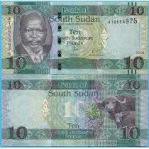 Южный Судан 10 фунтов 2016 год.