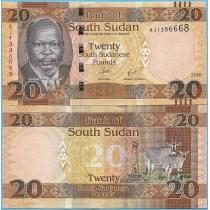 Южный Судан 20 фунтов 2016 год.