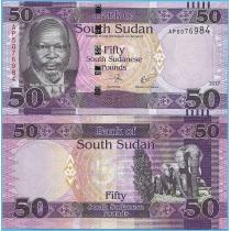 Южный Судан 50 фунтов 2017 год.