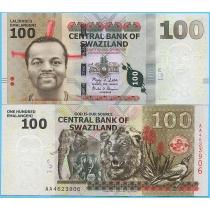 Свазиленд 100 эмалангени 2010 год.
