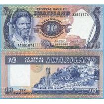 Свазиленд 10 эмалангени 1985 год.