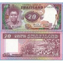 Свазиленд 20 эмалангени 1986 год.