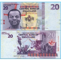 Свазиленд 20 эмалангени 2017 год.