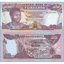 Свазиленд 20 эмалангени 2006 год.