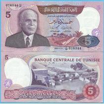 Тунис 5 динар 1983 год.