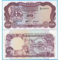 Уганда 20 шиллингов 1966 год.