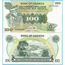 Уганда 100 шиллингов 1973 год.