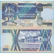 Уганда 100 шиллингов 1988 год.