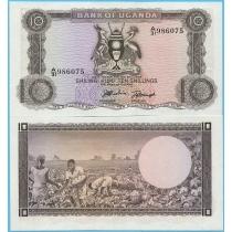 Уганда 10 шиллингов 1966 год.
