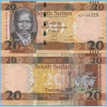 Южный Судан 20 фунтов 2015 год.