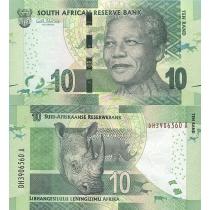 Южная Африка 10 рандов 2012 год.