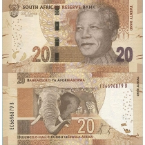 Южная Африка 20 рандов 2014 г.