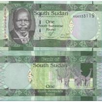 Южный Судан 1 фунт 2011 год.
