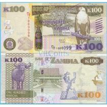 Замбия 100 квача 2015 год.