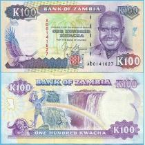 Замбия 100 квача 1991 год.