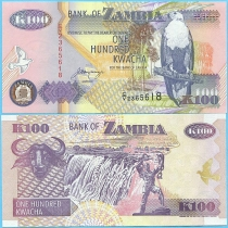 Замбия 100 квача 1992 год.