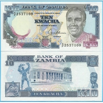 Замбия 10 квача 1991 год.