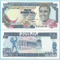 Замбия 10 квача 1989-1991 год.