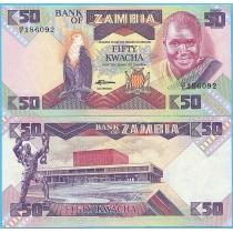 Замбия 50 квача 1986-1988 год.