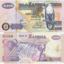 Замбия 100 квача 2009 год.