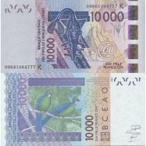 Западная Африка 10000 франков 2009 год. Сенегал
