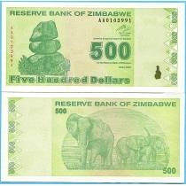 Зимбабве 500 долларов 2009 год.